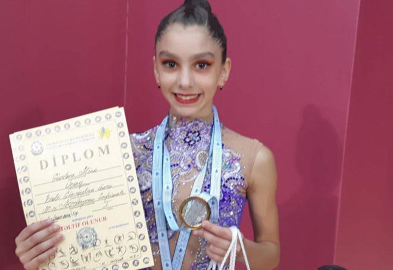 Для меня большое достижение выступать в финалах 26-го Чемпионата Азербайджана и Баку по художественной гимнастике – юная спортсменка