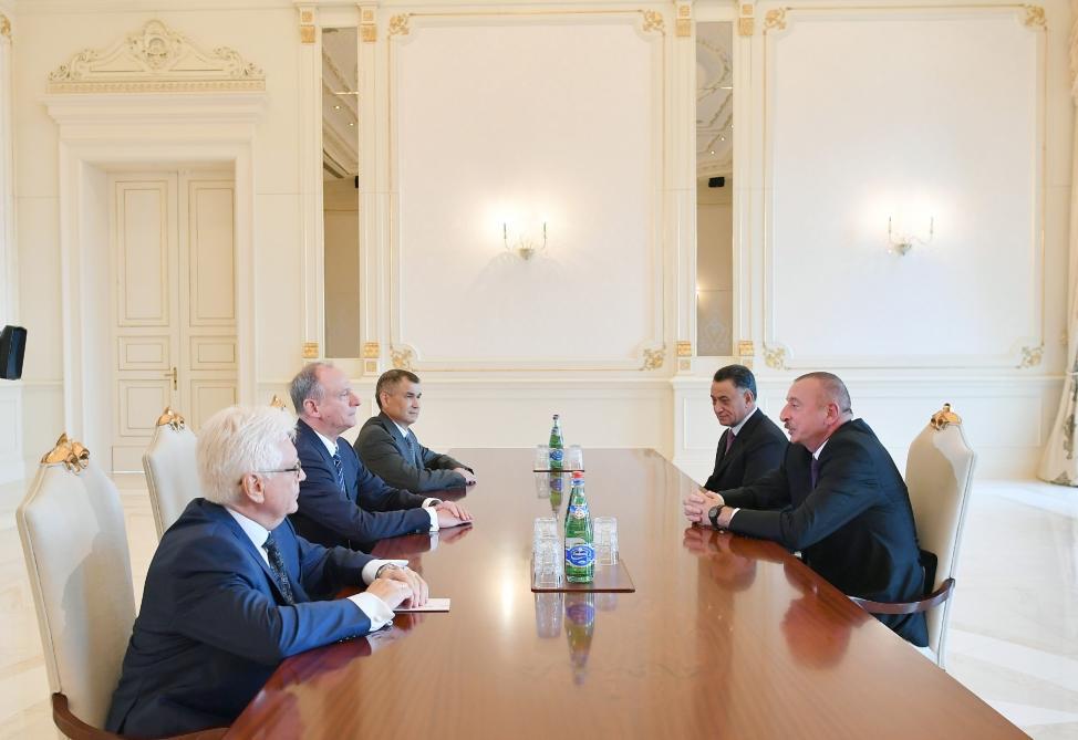 Президент Ильхам Алиев принял секретаря Совета безопасности России