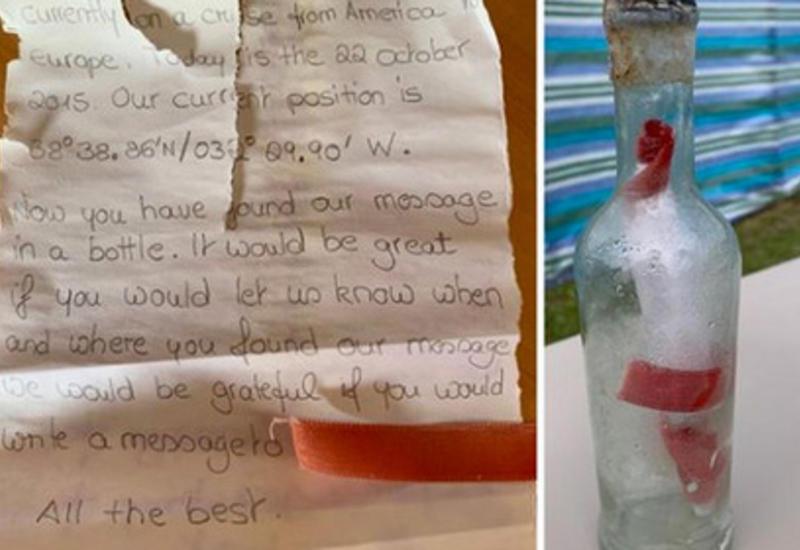 Письмо в бутылке проплыло тысячи километров по океану и дошло до адресата