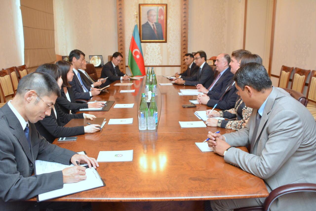 Эльмар Мамедъяров принял парламентского вице-министра иностранных дел Японии