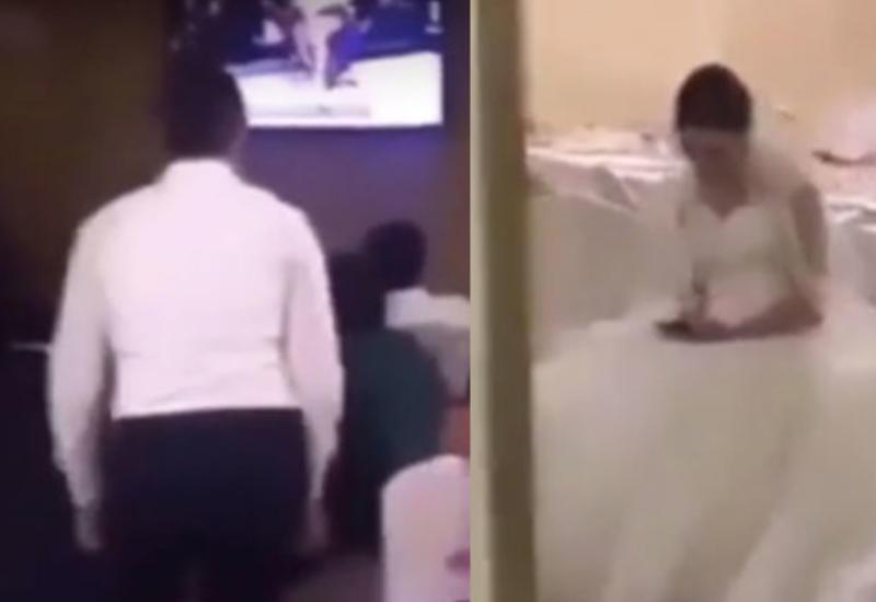Жених бросил невесту за свадебным столом ради боя Хабиба