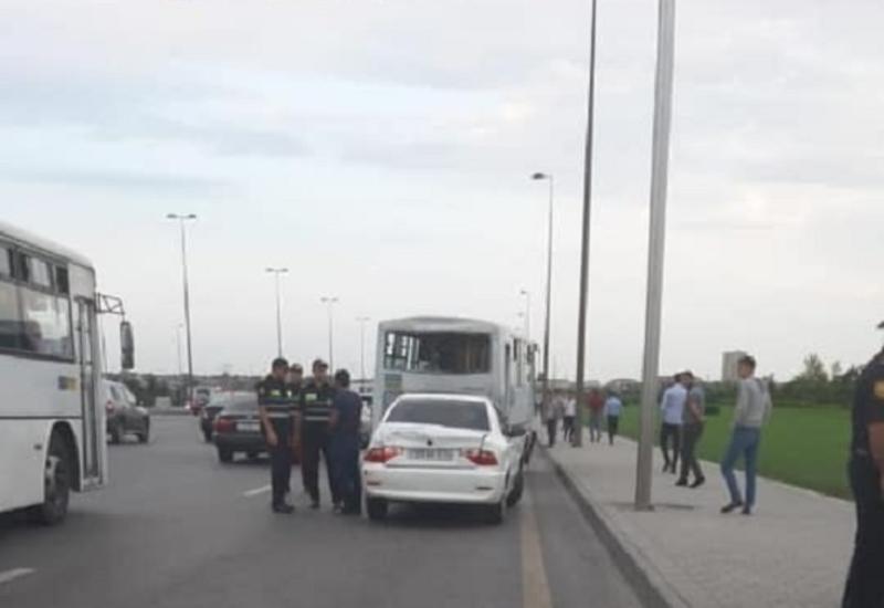 Тяжелое ДТП с участием автобусов в Баку