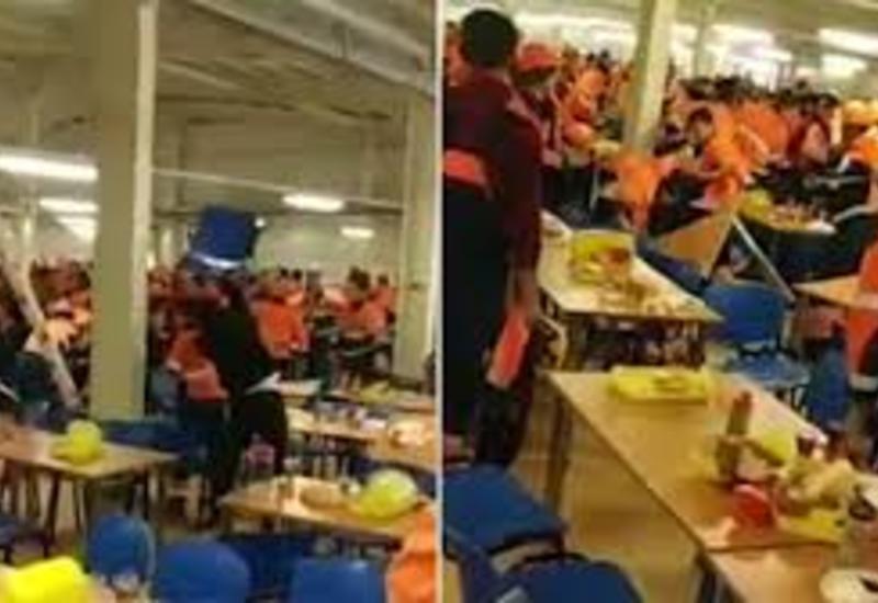 Обед в заводской столовой в России закончился массовой дракой