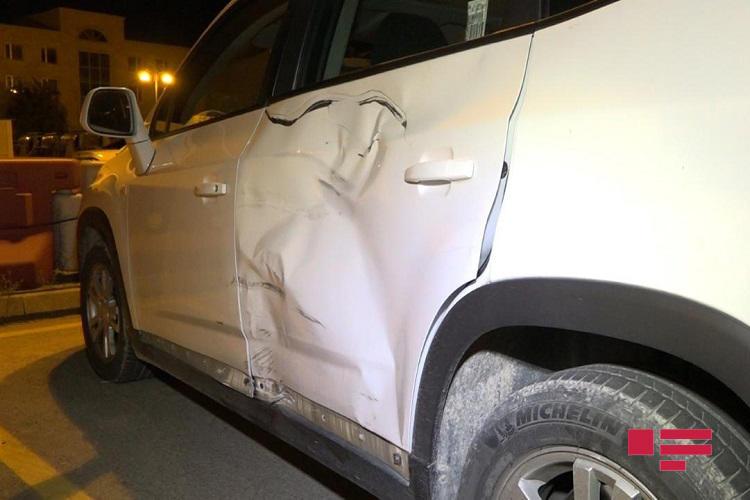 Тяжелое ДТП с участием мотоцикла в Баку, есть пострадавший