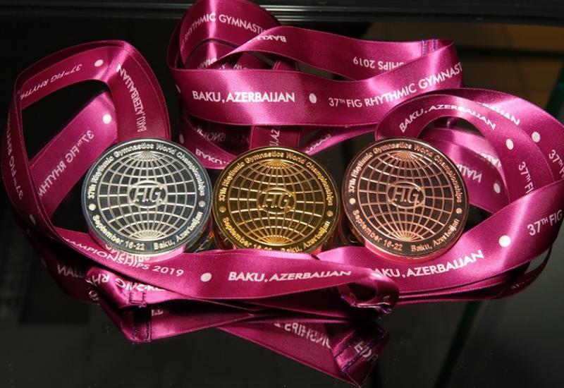Медали 37-го чемпионата мира по художественной гимнастике, который пройдет в Баку, представлены общественности