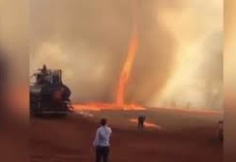 Огненный торнадо обрушился на ферму в Бразилии