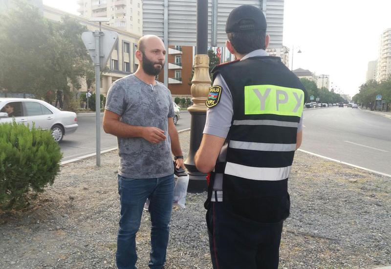 Дорожная полиция Баку продолжает профилактические мероприятия