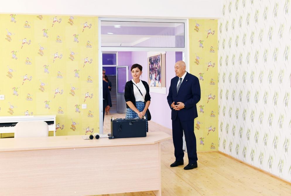 Первый вице-президент Мехрибан Алиева приняла участие в открытии детского сада в городе Исмаиллы