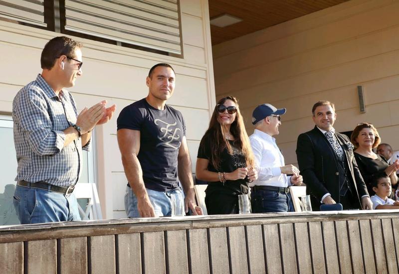 Вице-президент Фонда Гейдара Алиева Лейла Алиева наблюдала за финальной встречей 7-го Кубка мира по арена поло в Баку
