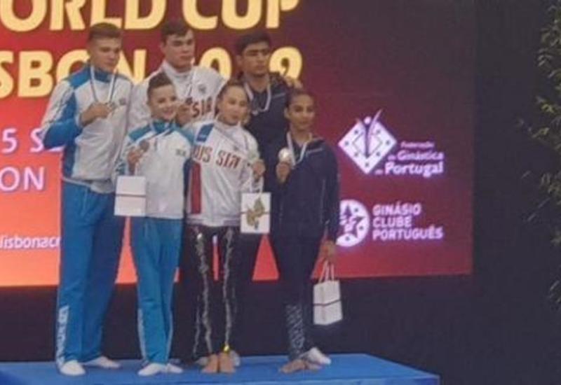 Азербайджанские гимнасты завоевали серебряные медали на Кубке мира