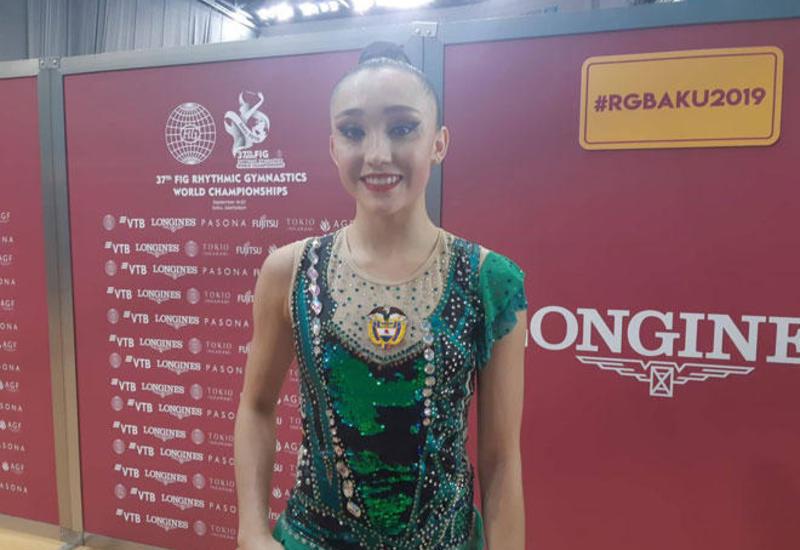 Зал Арены гимнастики в Баку великолепный – колумбийская спортсменка