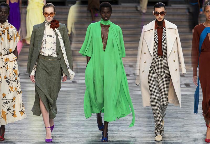 Новая коллекция Victoria Beckham - Костюмы из 70-х и свободные платья