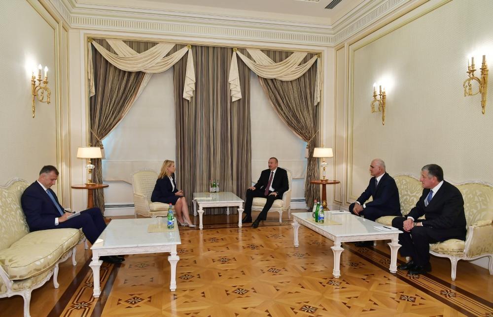 Президент Ильхам Алиев принял министра экономики и устойчивого развития Грузии