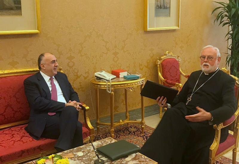 Эльмар Мамедъяров встретился с секретарем Святого Престола