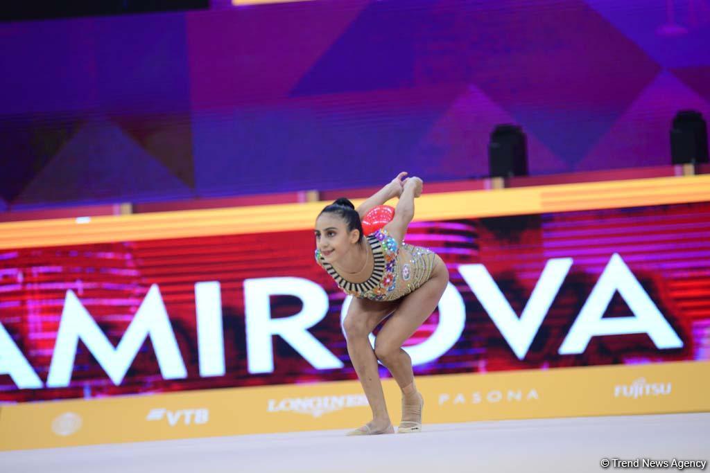 Яркие моменты второго дня Чемпионата мира по художественной гимнастике в Баку