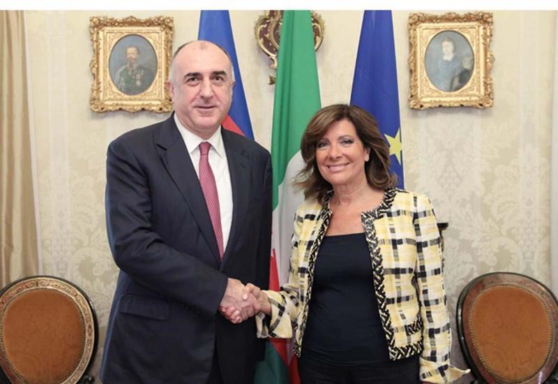 Эльмар Мамедъяров на переговорах с председателем Сената Италии