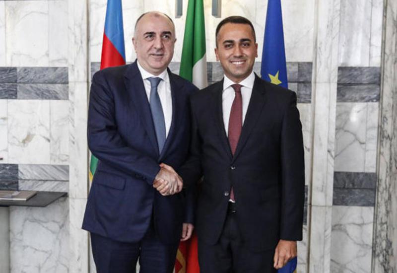 Эльмар Мамедъяров встретился с министром иностранных дел и международного сотрудничества Италии