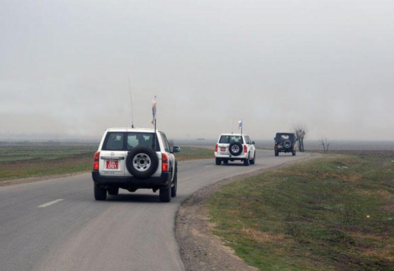 ОБСЕ провел мониторинг на линии соприкосновения войск Азербайджана и Армении