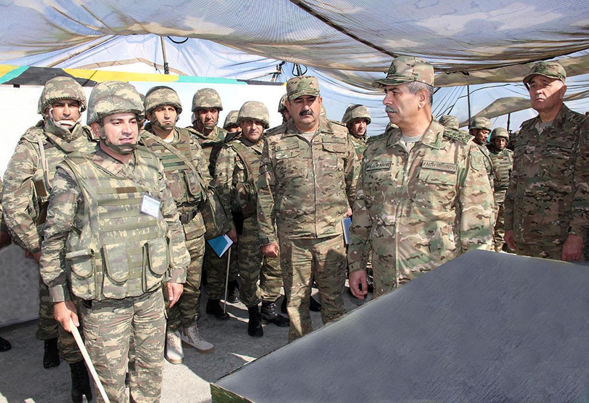 Азербайджанские войска провели рекогносцировку