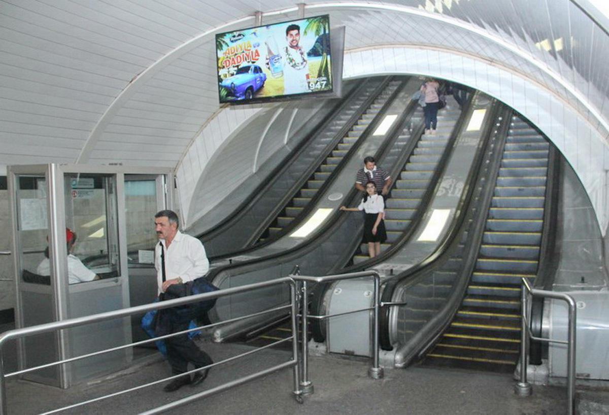 На станции метро «Низами» отремонтировали эскалатор