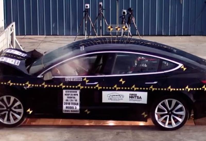 Tesla Model 3 получила высший балл за безопасность