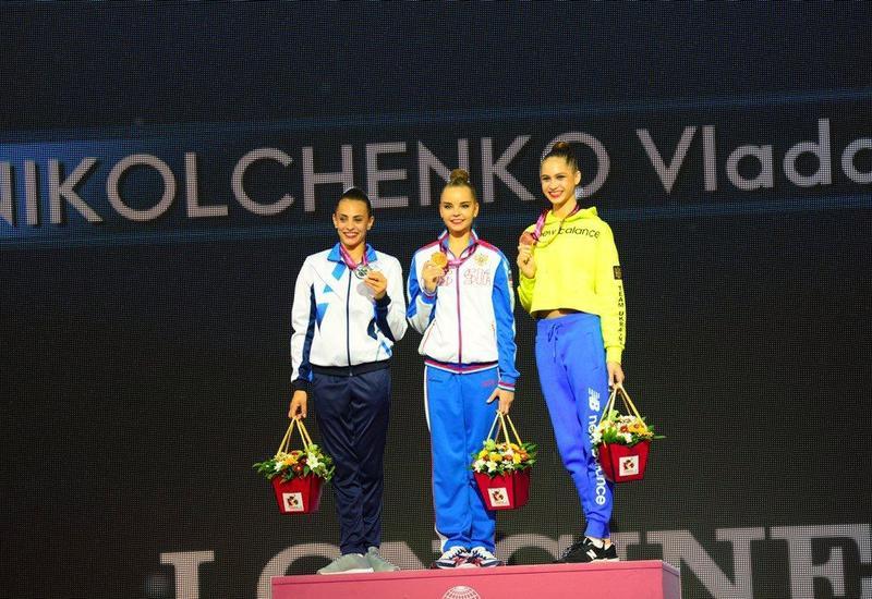 В Баку прошла церемония награждения победителей и призеров 37-го Чемпионата мира по художественной гимнастике