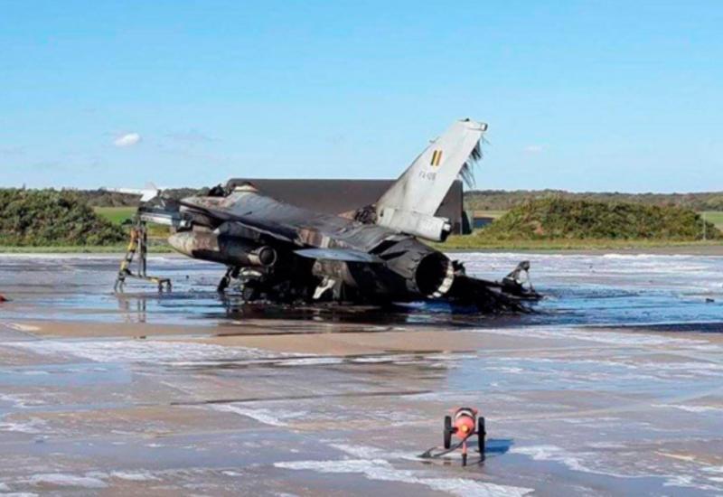 Во Франции разбился бельгийский истребитель