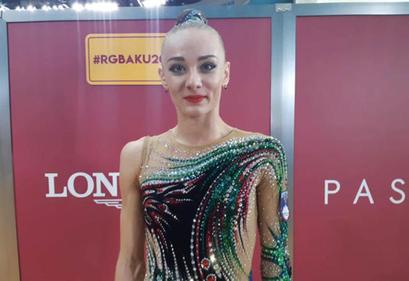 В зале Арены гимнастики в Баку невероятно красиво - словенская гимнастка