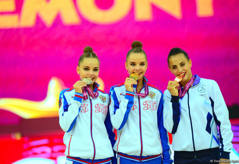 В Баку прошла церемония награждения победителей Чемпионата мира по художественной гимнастике