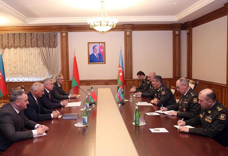 Закир Гасанов на переговорах с госсекретарем Совета безопасности Беларуси