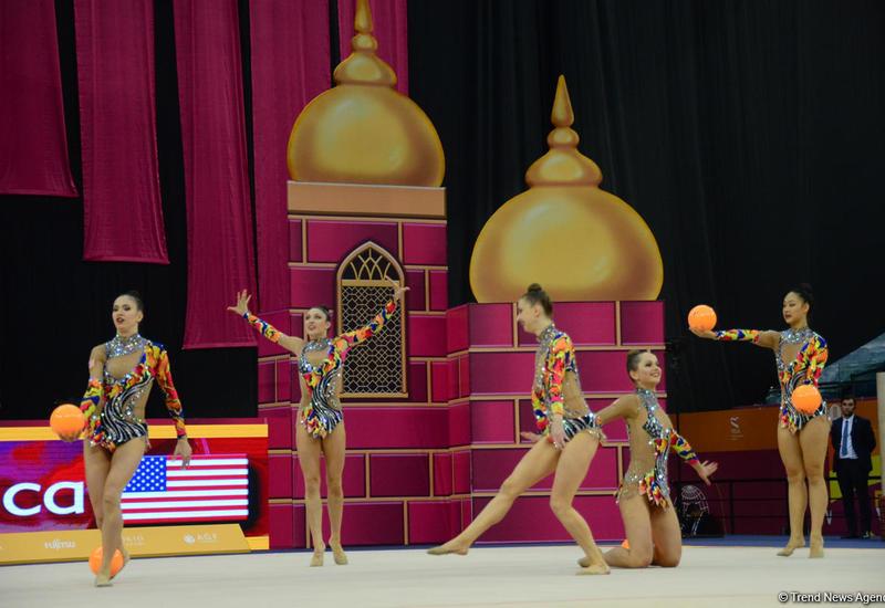 В Национальной арене гимнастики проходит шестой день соревнований Чемпионата мира