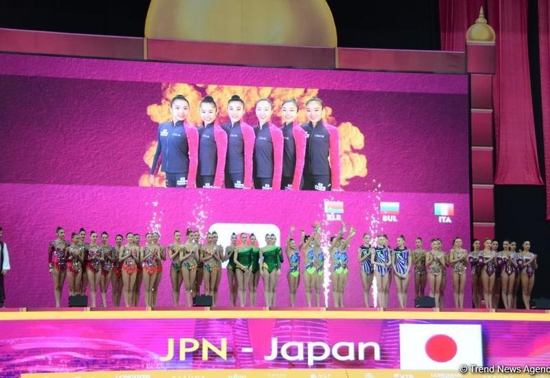 Команда Японии завоевала «золото» Чемпионата мира в групповых упражнениях с пятью мячами