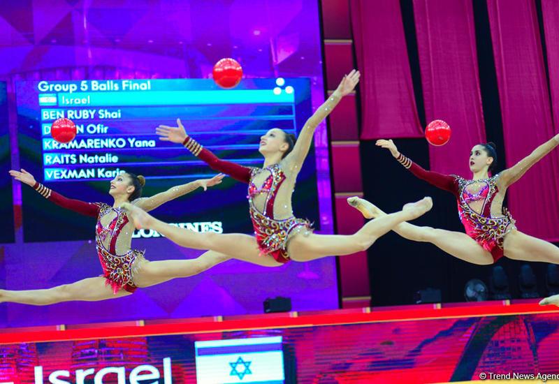 Лучшие моменты заключительного дня Чемпионата мира по художественной гимнастике в Баку