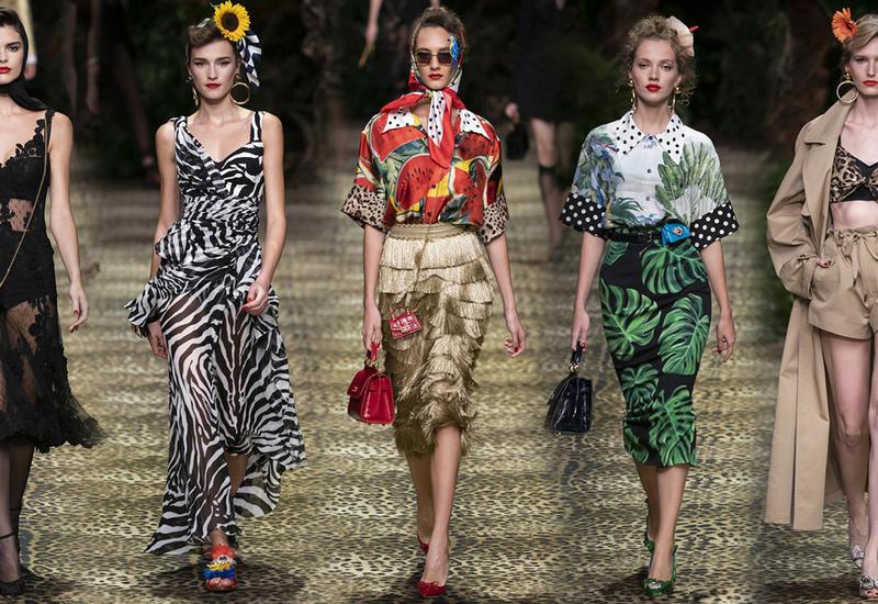 Тропическая тема в коллекции Dolce & Gabbana