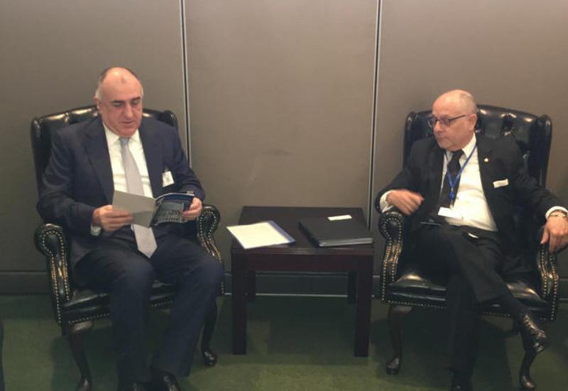 Эльмар Мамедъяров на переговорах с аргентинским коллегой в Нью-Йорке