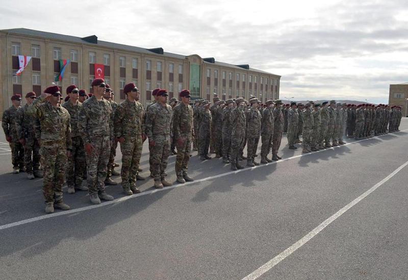 Учения спецназа Азербайджана, Турции и Грузии в Баку