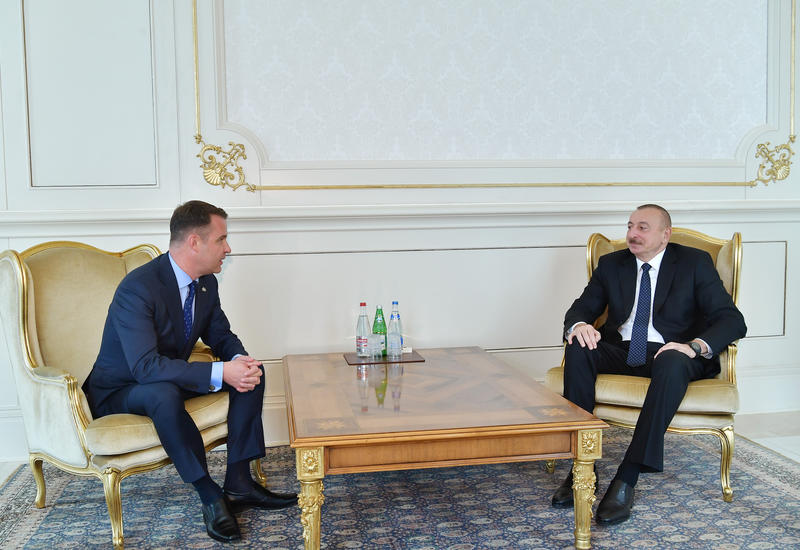 Президент Ильхам Алиев принял верительные грамоты новоназначенного посла Литвы в Азербайджане