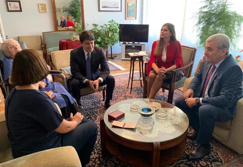 Фуад Мурадов встретился с дочерью великого азербайджанского мыслителя Алибея Гусейнзаде