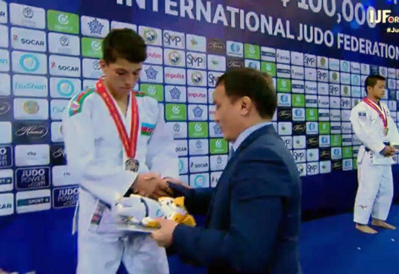 Азербайджанский дзюдоист завоевал серебряную медаль на ЧМ в Казахстане