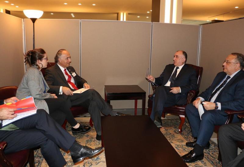 Эльмар Мамедъяров на переговорах с чилийским коллегой