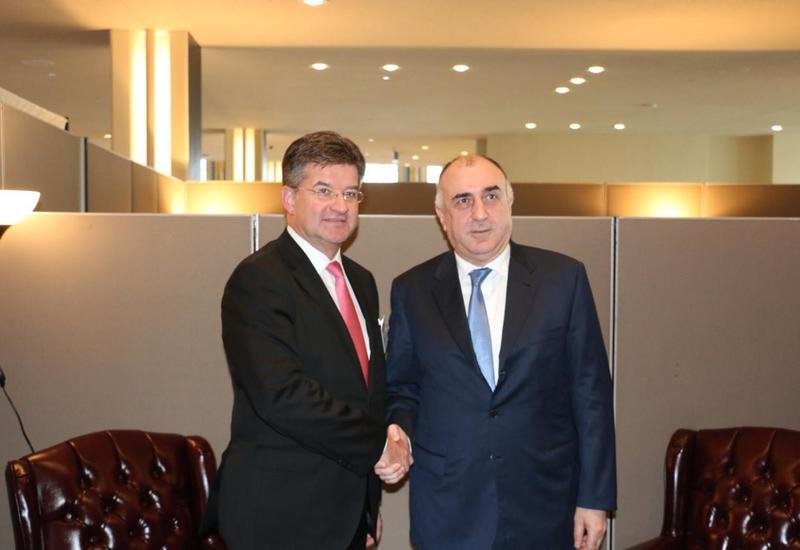 Эльмар Мамедъяров на переговорах с председателем ОБСЕ