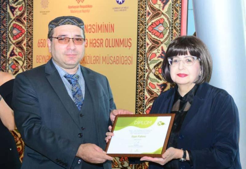 В рамках Фестиваля Насими состоялась церемония награждения конкурса эскизов ковров и произведений