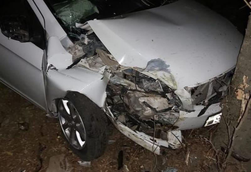 Тяжелое ДТП в Товузе, есть пострадавший
