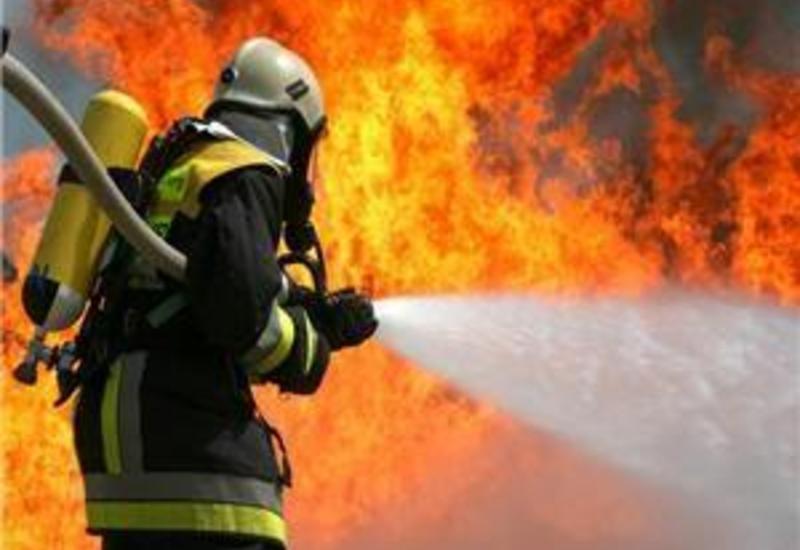 В Губе произошел сильный пожар