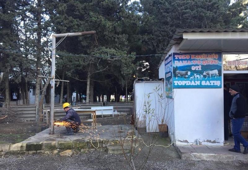 В Баку ведут борьбу с незаконным забоем скота