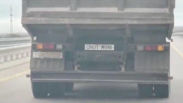 """На грузовике вместо номера надпись """"Забудь меня"""": начато расследование"""