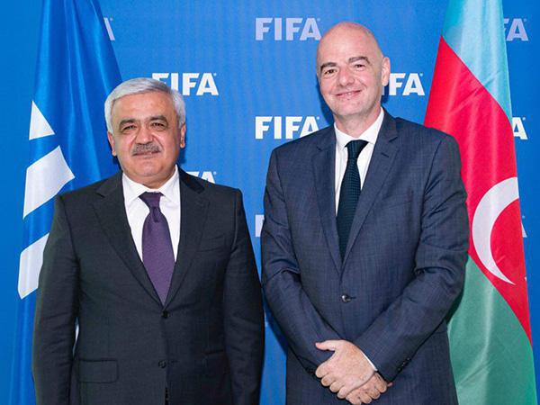 Состоялась встреча президентов АФФА и ФИФА