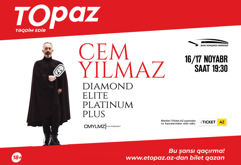 Джем Йылмаз выступит в Баку (18+)