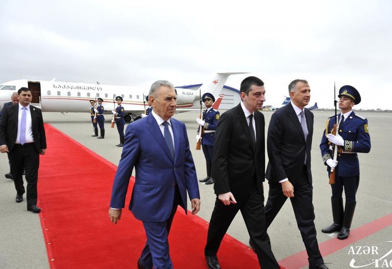 Премьер-министр Грузии прибыл с официальным визитом в Азербайджан