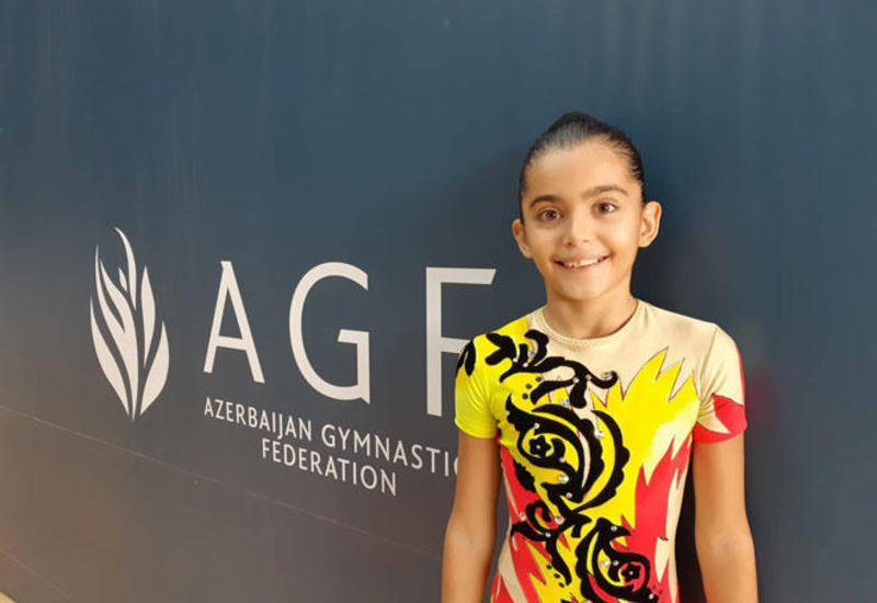 Мы долго и упорно готовились к первенству Азербайджана и Чемпионату Баку по аэробной гимнастике – юная спортсменка